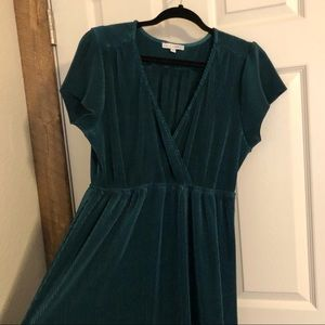 Baltic Born Dresses - Baltic Born Athena Pleated Maxi Dress in Jade